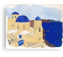 Santorini, the Greek jewel of Aegean Sea Canvas Print
