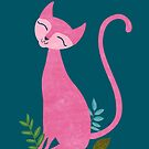 Pink kitten on a green color by mikath