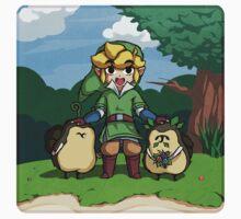 Legend of Zelda Skyward Sword: Link and Kikwis Kids Tee