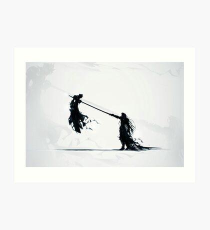 Sephirot vs Cloud Art Print