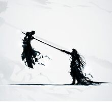 Sephirot vs Cloud by Blado