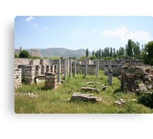 The Bishop's Palace Aphrodisias Turkey Canvas Print
