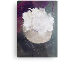 Abstract white volcano Metal Print