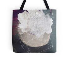 Abstract white volcano Tote Bag