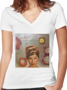 Exotic Sounds From The Silver Screen, Martin Denny Women's Fitted V-Neck T-Shirt