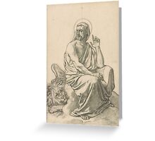 Henri Lehmann St. Mark and His Lion.  Greeting Card