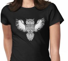 Coota Art, Owl Womens Fitted T-Shirt