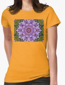 Beautiful purple statis flower. Womens Fitted T-Shirt