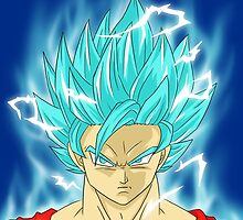 Super Saiyajin Blue Goku by Junior Mclean