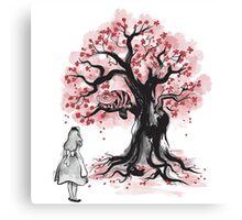 The Cheshire's Tree sumi-e (monochrome) Canvas Print