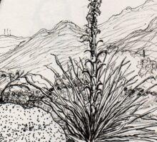 A Desert Scene North of Mount Lemmon, Arizona Sticker