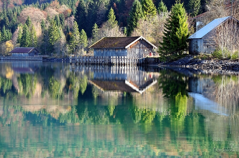Lake Walchensee Reflections by Daidalos