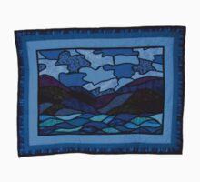 Quilt 2- Tasmania blue landscape One Piece - Short Sleeve