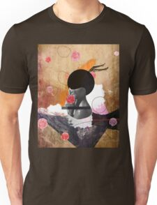 Contemporary fashionistas floral collage Unisex T-Shirt