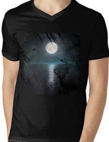 When the moon 2 Mens V-Neck T-Shirt