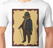 Bear in bowler hat Unisex T-Shirt