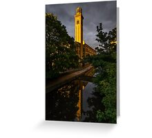 New Mill at Sunset, Saltaire Greeting Card