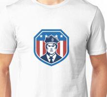 American Security Guard Flag Shield Retro Unisex T-Shirt