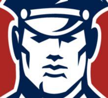 American Security Guard Flag Shield Retro Sticker