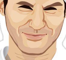 Roger Federer, the tennis superstar Sticker