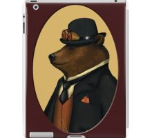 Bear in bowler hat iPad Case/Skin