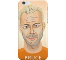 Bruce Willis, Hollywood star in The Fifth Element  iPhone Case/Skin