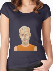 Bruce Willis, Hollywood star in The Fifth Element  Women's Fitted Scoop T-Shirt