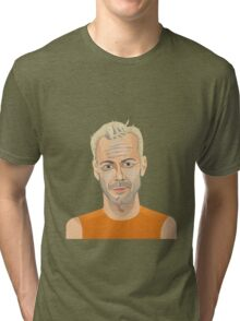 Bruce Willis, Hollywood star in The Fifth Element  Tri-blend T-Shirt