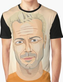Bruce Willis, Hollywood star in The Fifth Element  Graphic T-Shirt