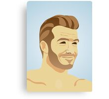 David Beckham - football star Canvas Print