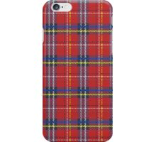 Red plaid Scottish fabric pattern iPhone Case/Skin