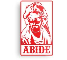 Abide, The Big Lebowski Metal Print