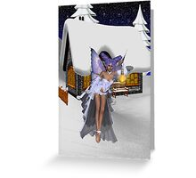 On A Winters Night Greeting Card
