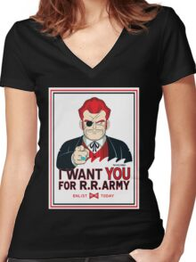 Commander Red Wants YOU! Women's Fitted V-Neck T-Shirt