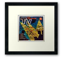 TV THEMES lp Cover, Tops Framed Print
