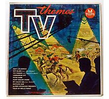 TV THEMES lp Cover, Tops Photographic Print