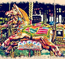 Retro Carousel Horse by Moonlake