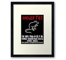 Mouse Rat - Concert Poster Framed Print