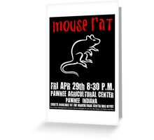 Mouse Rat - Concert Poster Greeting Card