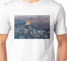 Slow Sunrise Over the High Desert - Mojave With a Dusting of Snow Unisex T-Shirt