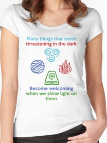 Welcoming in the Light - Iroh Quote Women's Fitted Scoop T-Shirt