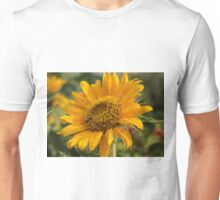 Yellow Bee Flower Unisex T-Shirt