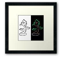 Abstract bonsai drawing Framed Print
