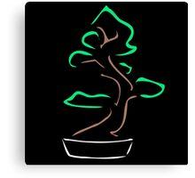 Abstract bonsai drawing Canvas Print