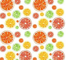 Bright citrus pattern by Maria Samburova