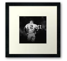 derek jeter respect Framed Print