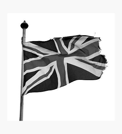 Great Britain flag, union jack Black & White Photographic Print