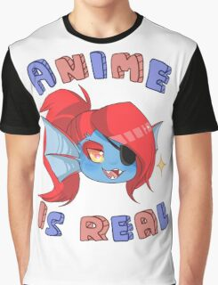 Undyne - Anime is real Graphic T-Shirt