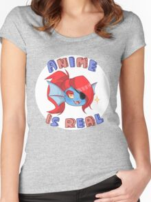 Undyne - Anime is real Women's Fitted Scoop T-Shirt