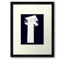 The Walking Dead - The Tower (White) Framed Print